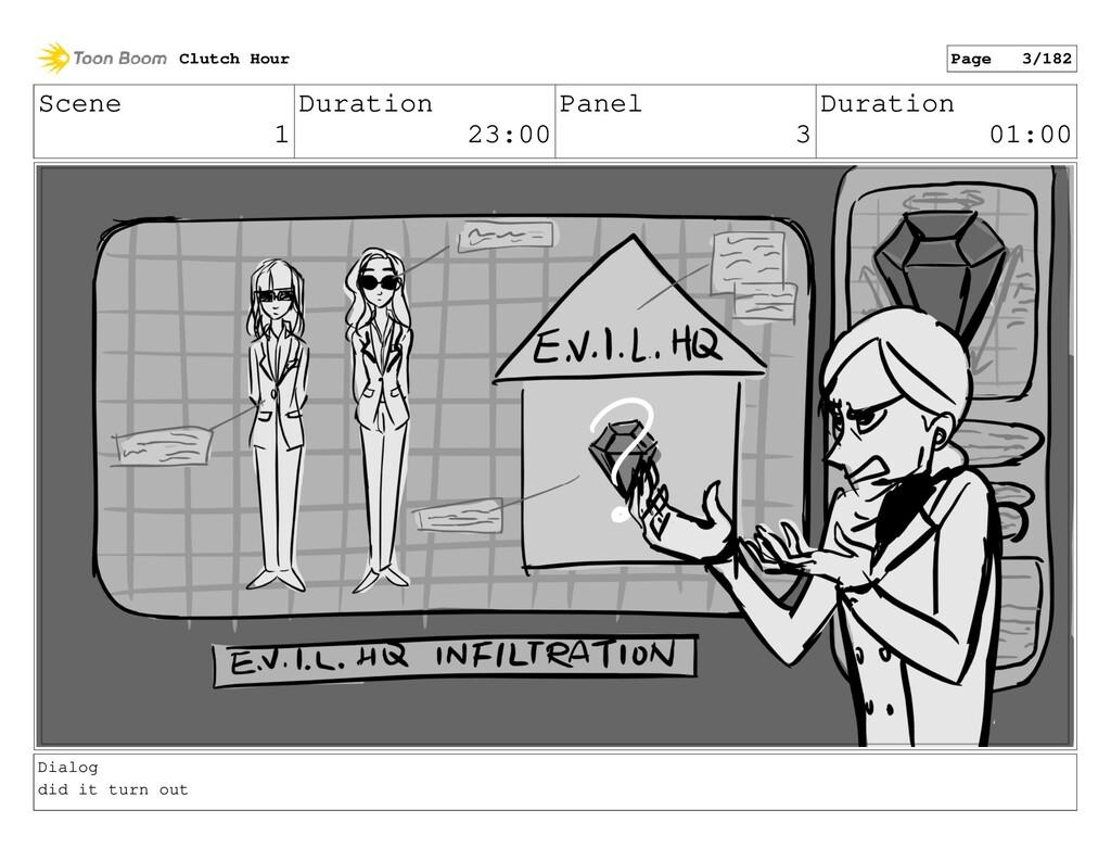 Scene 1 Duration 23:00 Panel 3 Duration 01:00 D...