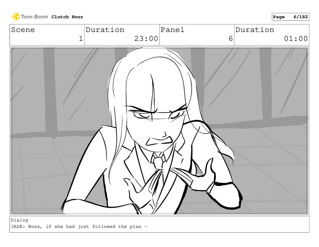 Scene 1 Duration 23:00 Panel 6 Duration 01:00 D...