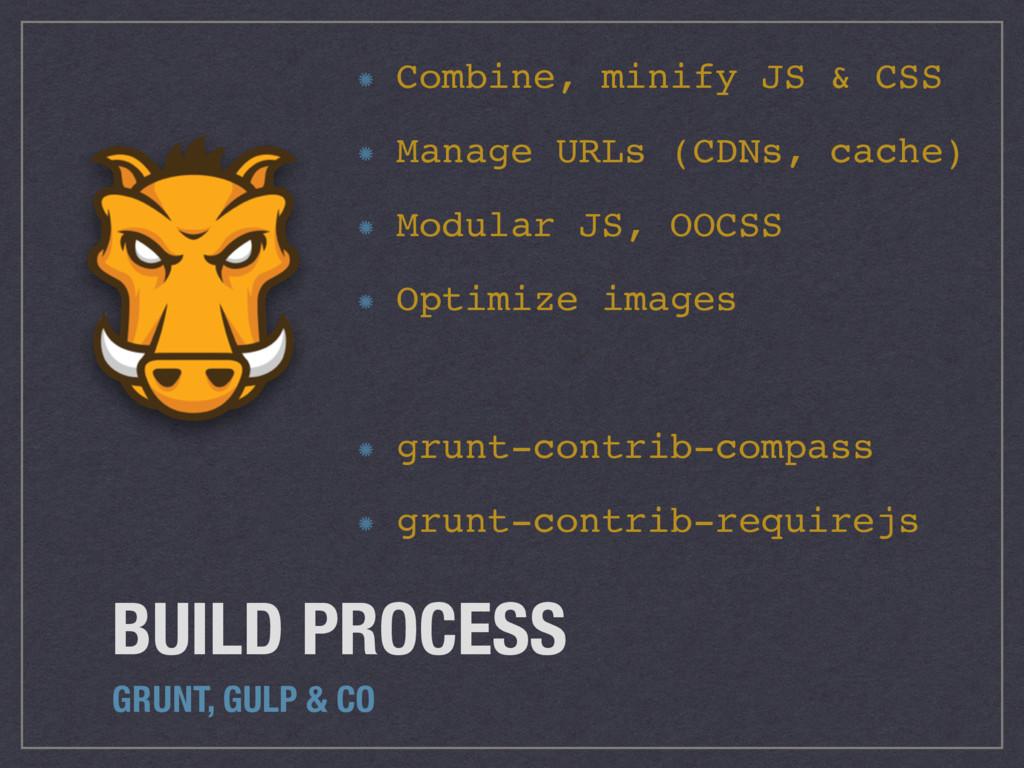 BUILD PROCESS GRUNT, GULP & CO Combine, minify ...