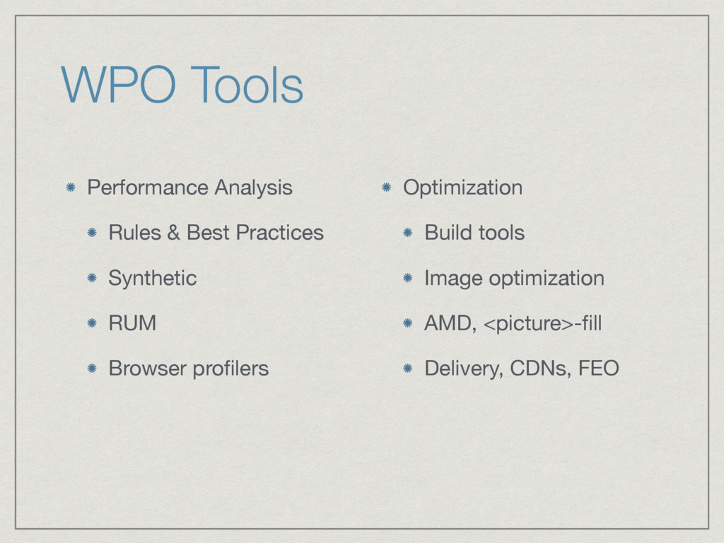 WPO Tools Performance Analysis  Rules & Best Pr...