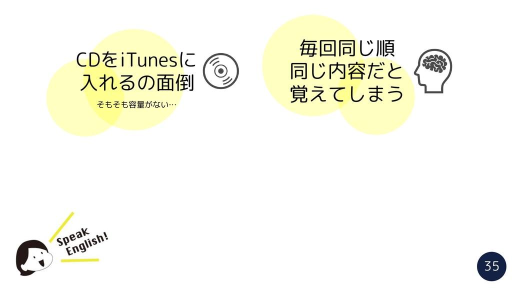 CDをiTunesに 入れるの面倒 そもそも容量がない… 毎回同じ順 同じ内容だと 覚えてしま...
