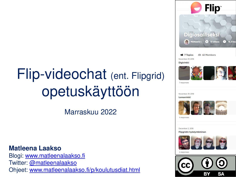 Flipgrid-videochat opetuskäyttöön Maaliskuu 202...