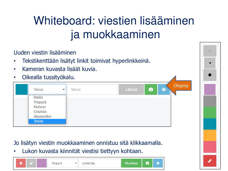 Whiteboardilla voi luoda yhdessä erilaisia visu...