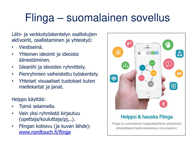Flinga – suomalainen sovellus Lähi- ja verkkota...