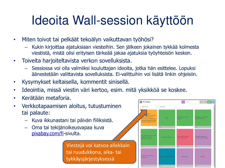 Whiteboard-session asetukset Muuten kuten edell...