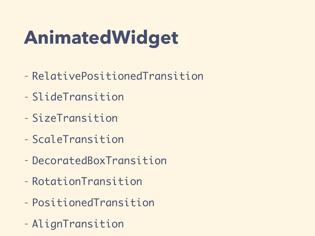 AnimatedWidget - RelativePositionedTransition -...