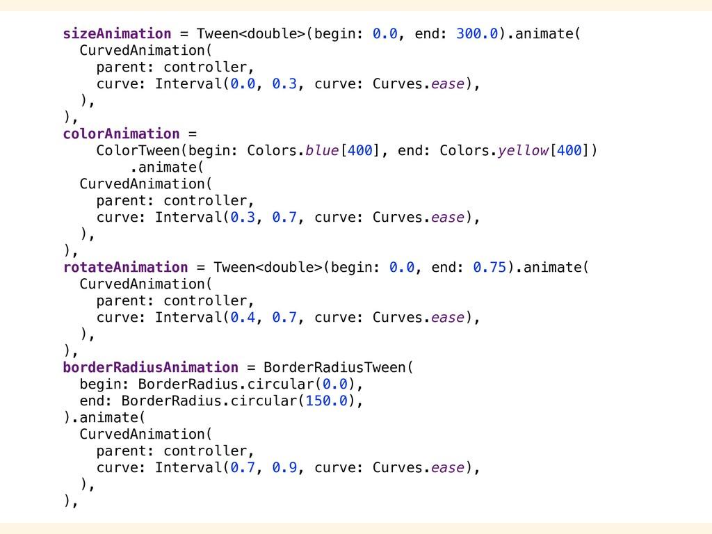 sizeAnimation = Tween<double>(begin: 0.0, end: ...