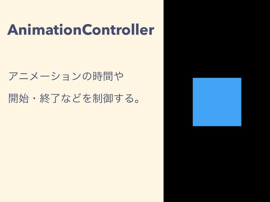 AnimationController Ξχϝʔγϣϯͷؒ ։ɾऴྃͳͲΛ੍ޚ͢Δɻ