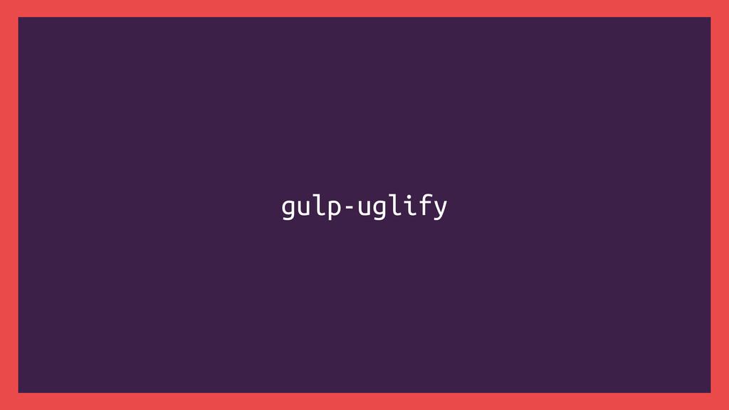 gulp-uglify