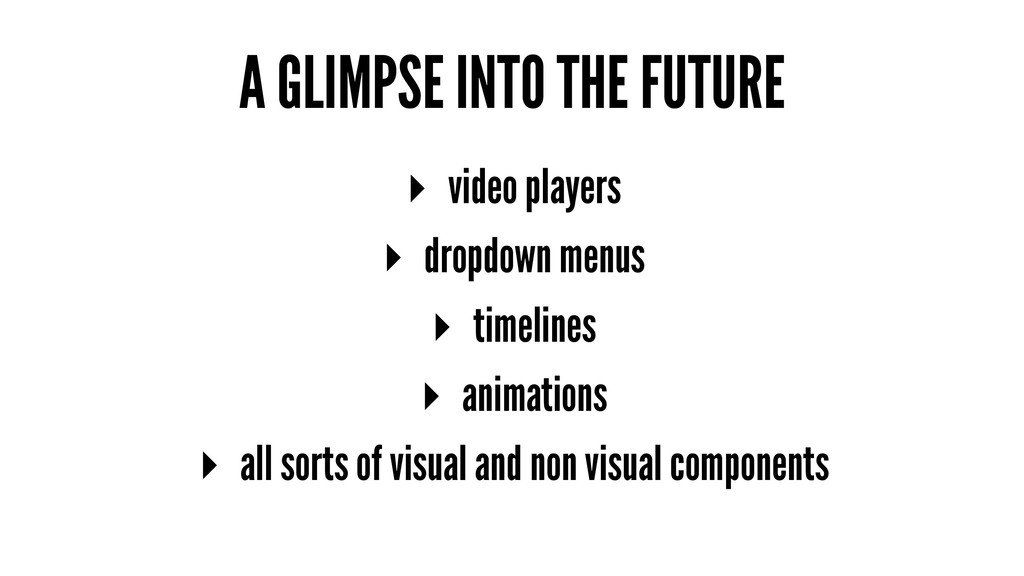 A GLIMPSE INTO THE FUTURE ▸ video players ▸ dro...