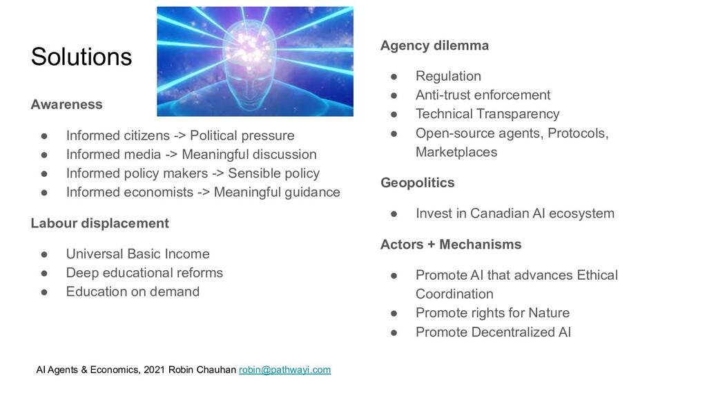 AI Agents & Economics, 2021 Robin Chauhan robin...