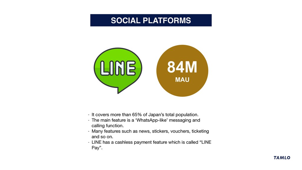 SOCIAL PLATFORMS 84M MAU - It covers more than ...