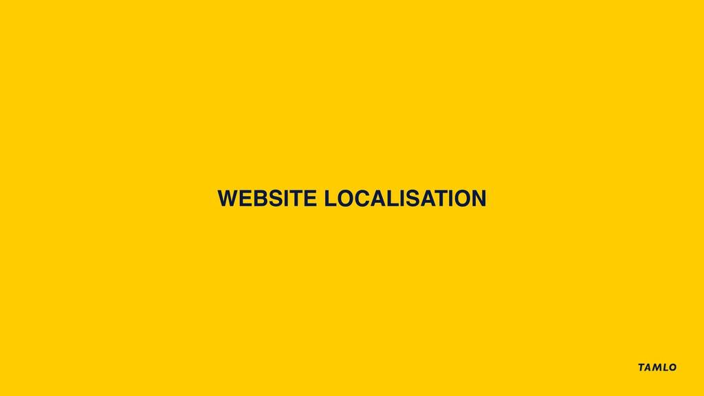 WEBSITE LOCALISATION