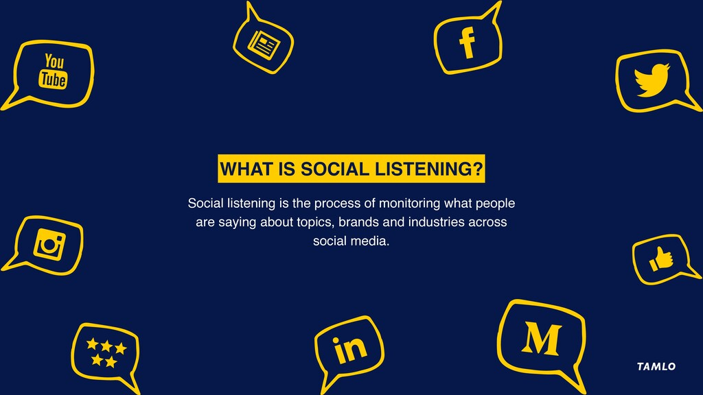 WHAT IS SOCIAL LISTENING? Social listening is t...