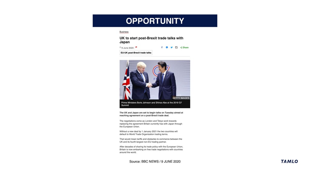 OPPORTUNITY Source: BBC NEWS / 9 JUNE 2020