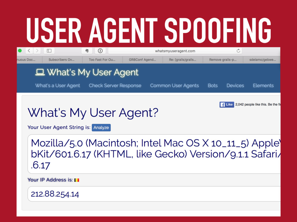 USER AGENT SPOOFING