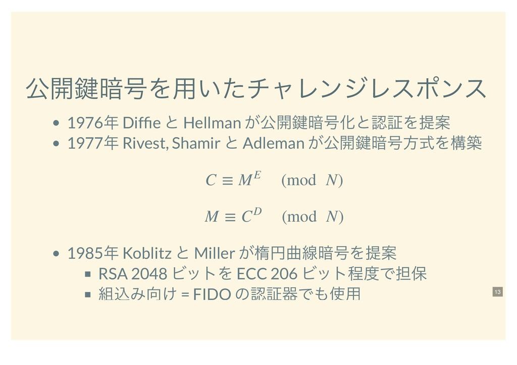 ެ։伴҉߸Λ༻͍ͨνϟϨϯδϨεϙϯε 1976 Diffie ͱ Hellman ͕ެ։伴҉...