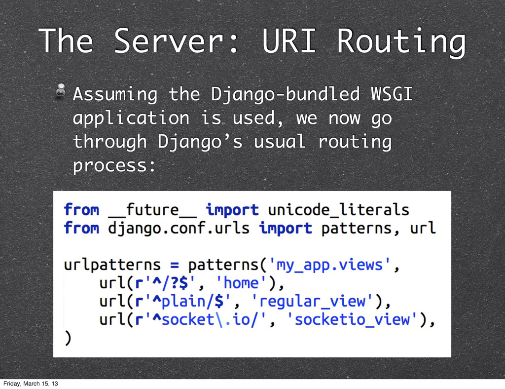 The Server: URI Routing Assuming the Django-bun...