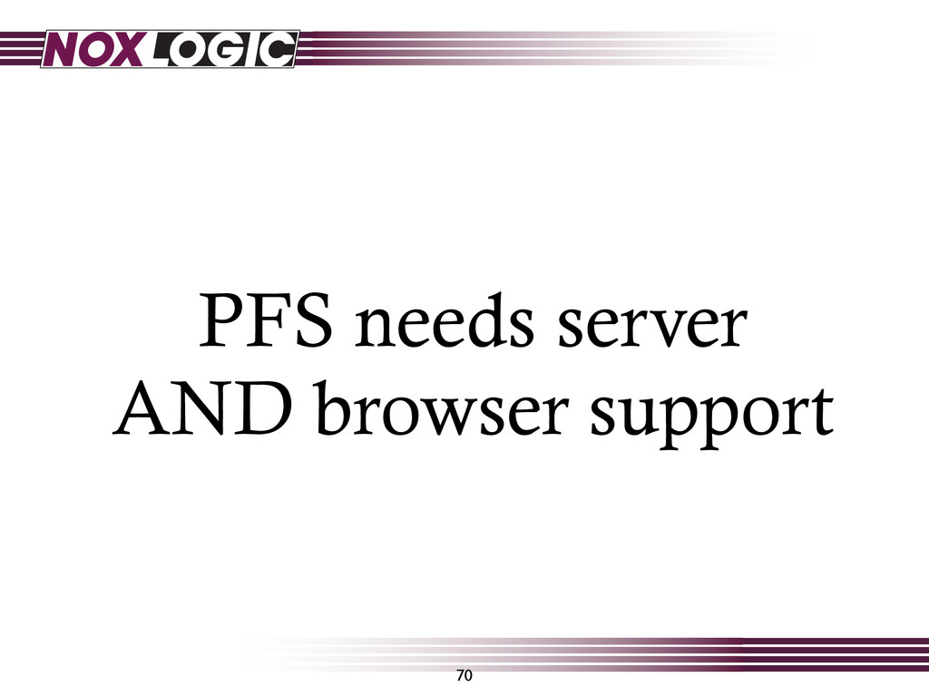 70 PFS needs server AND browser support