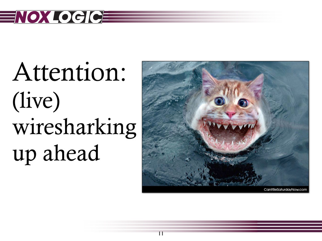 Attention: (live) wiresharking up ahead 11