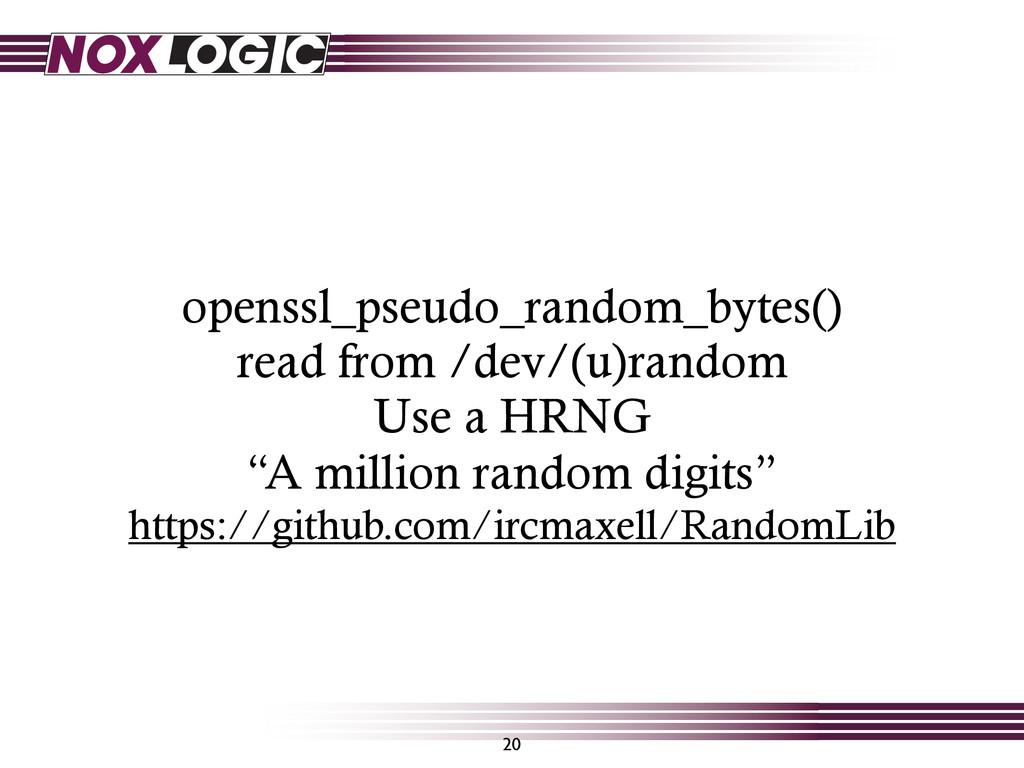 openssl_pseudo_random_bytes() read from /dev/(u...