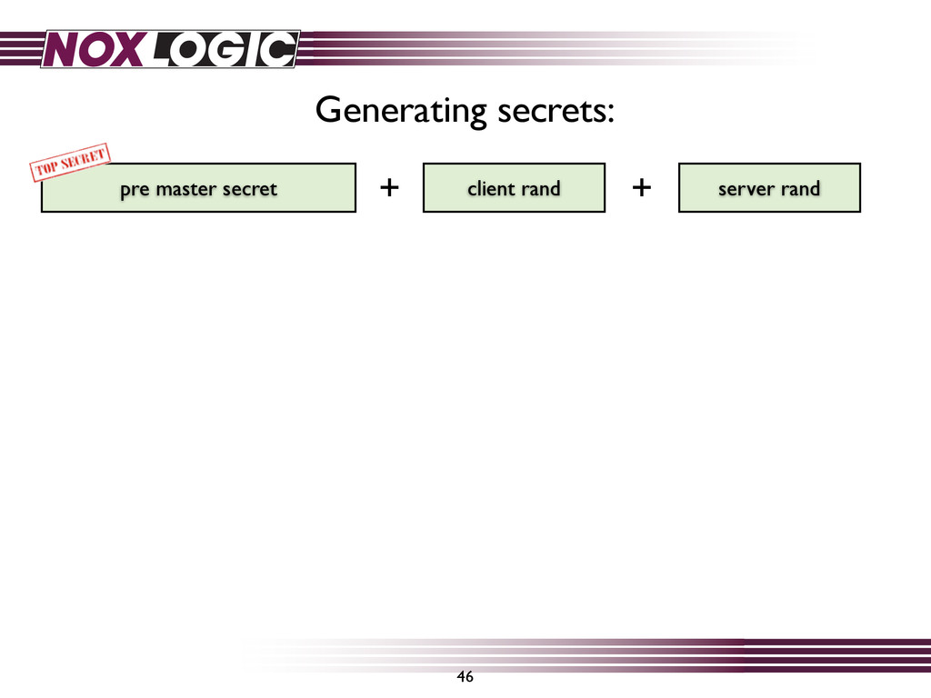 46 pre master secret server rand client rand Ge...