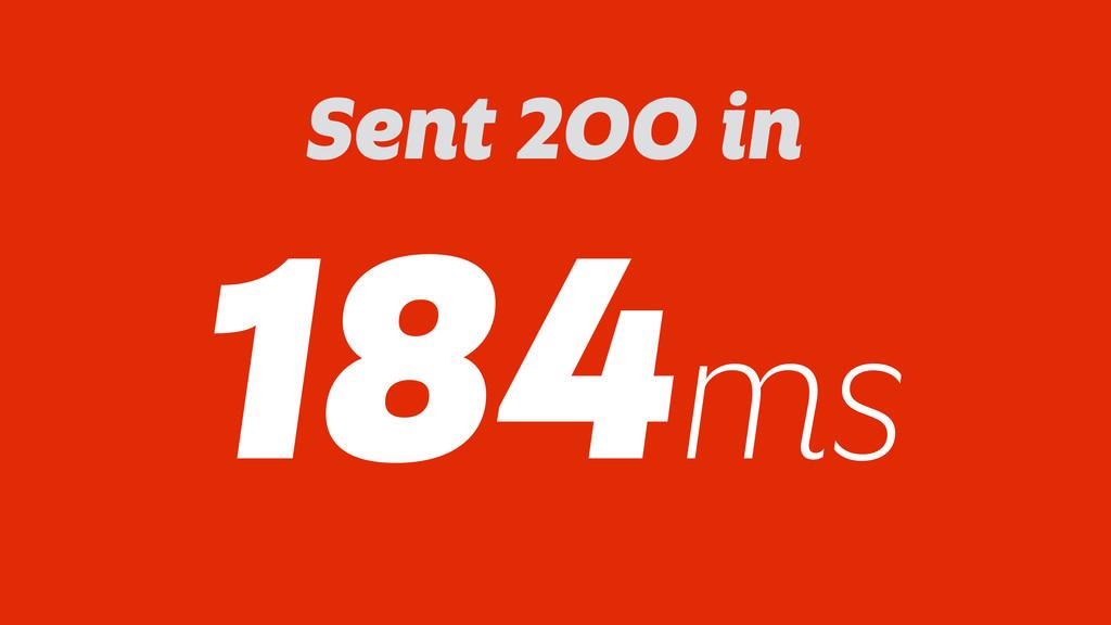 Sent 200 in 184ms