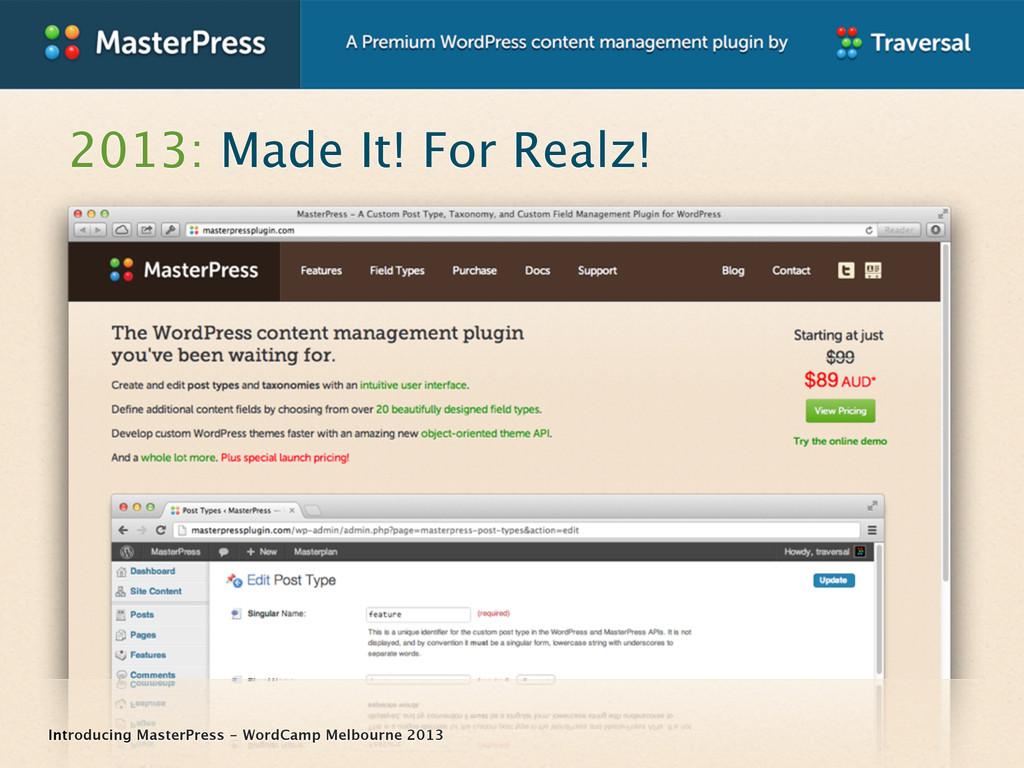 Introducing MasterPress - WordCamp Melbourne 20...