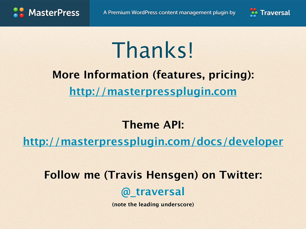 Thanks! More Information (features, pricing): h...