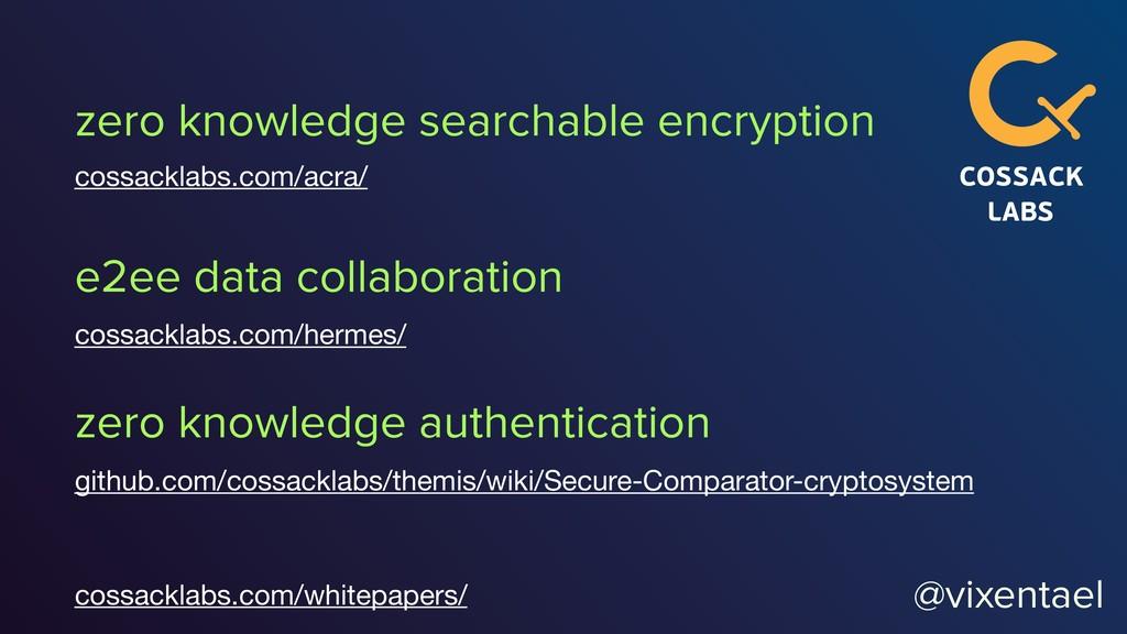 @vixentael zero knowledge searchable encryption...