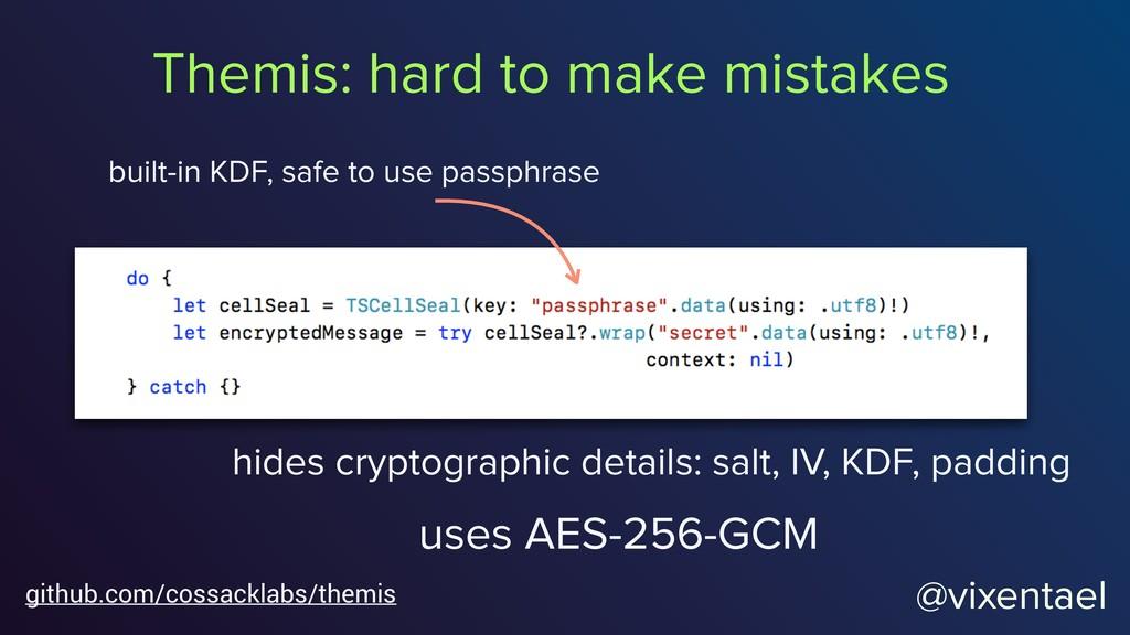@vixentael hides cryptographic details: salt, I...