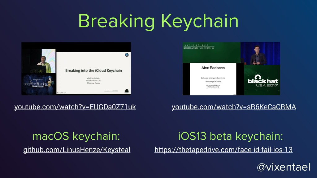 @vixentael Breaking Keychain youtube.com/watch?...