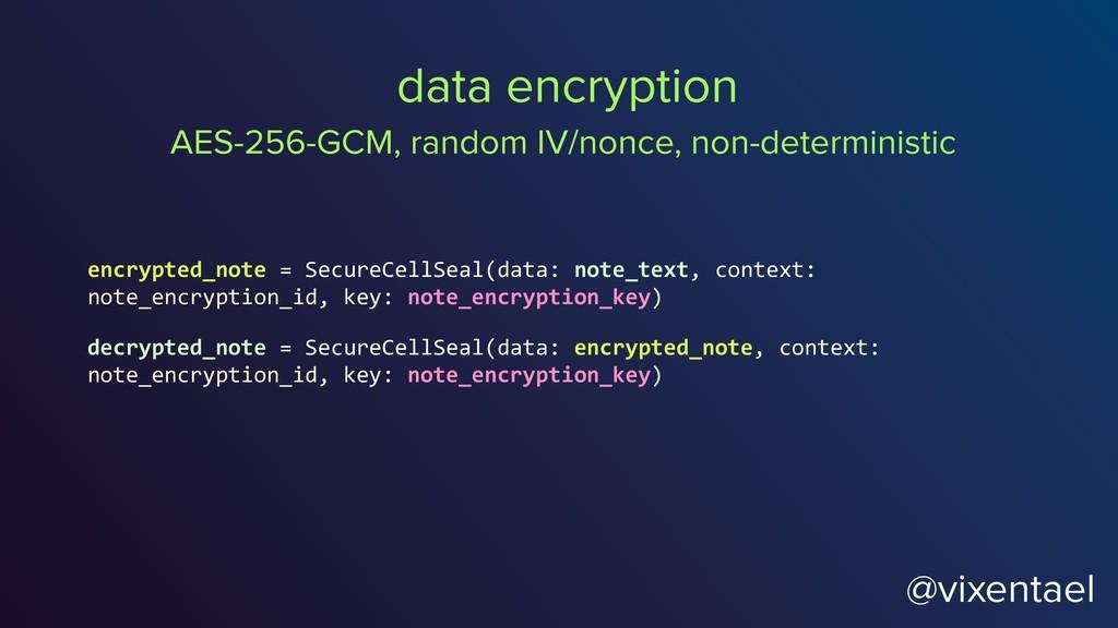 @vixentael data encryption encrypted_note = Sec...