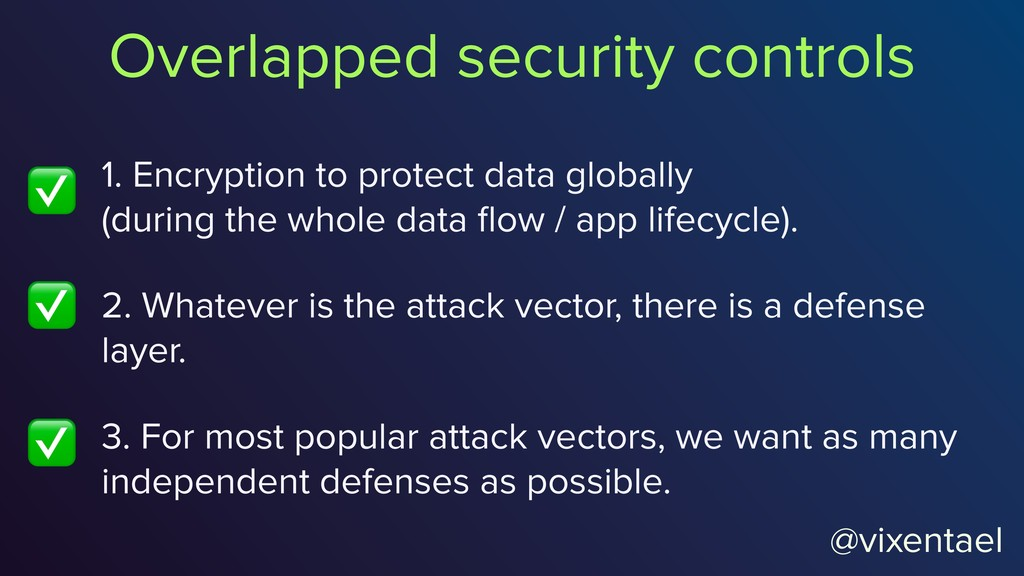 1. Encryption to protect data globally  (durin...