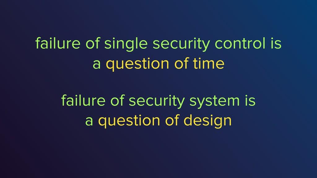 failure of single security control is a questio...