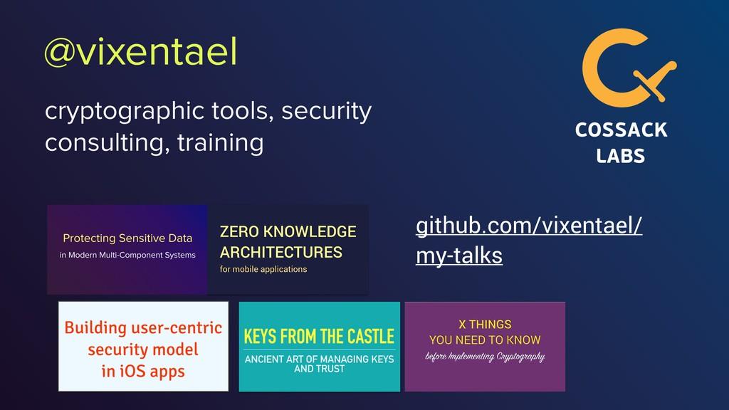 @vixentael cryptographic tools, security consul...