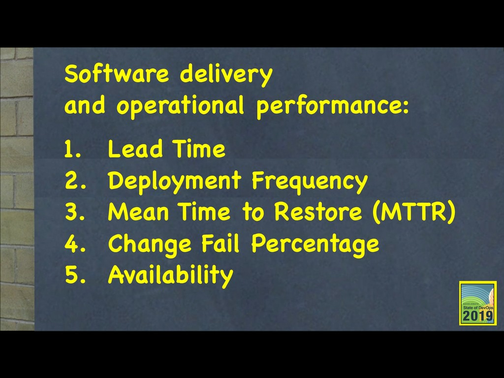 Software delivery  and operational performance:...