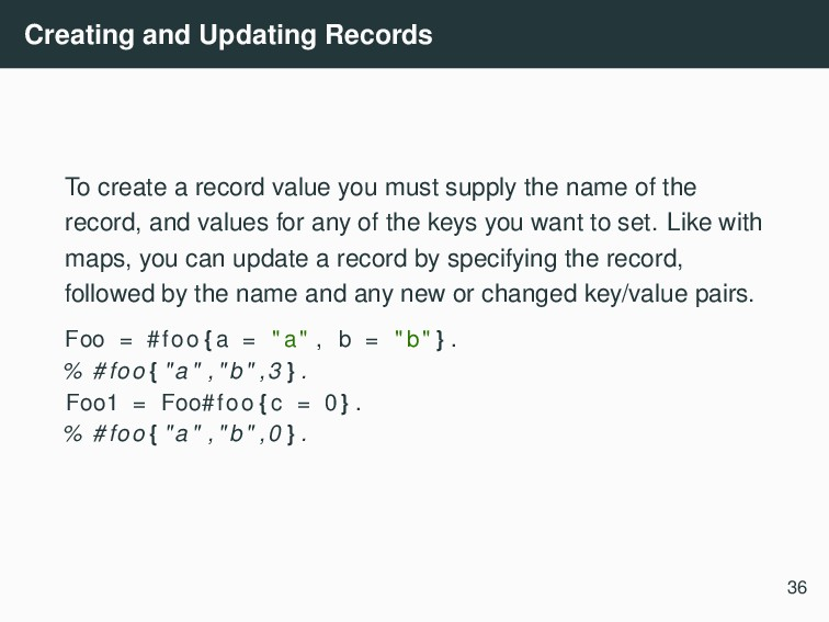 Creating and Updating Records To create a recor...
