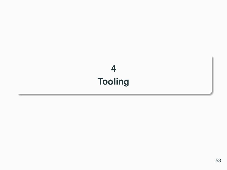 4 Tooling 53