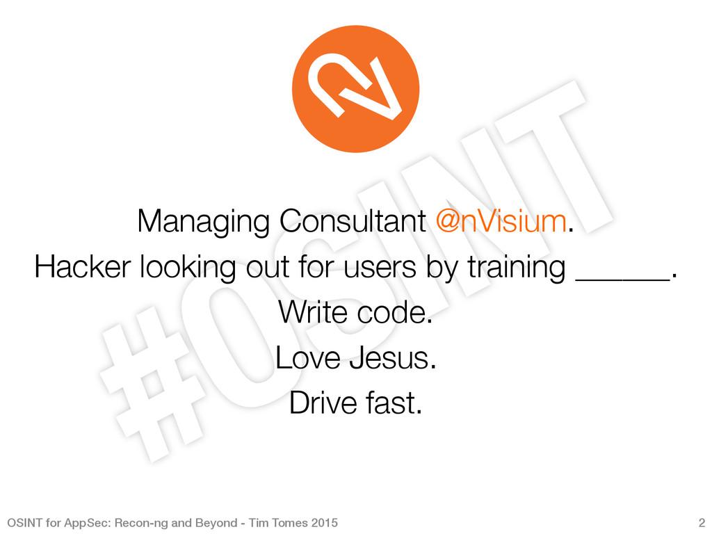 Managing Consultant @nVisium. Hacker looking...