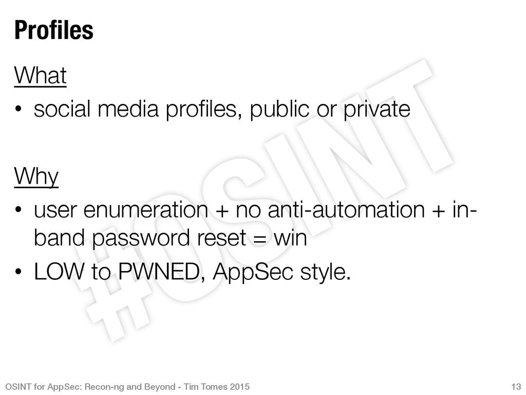 Profiles What • social media profiles, public ...