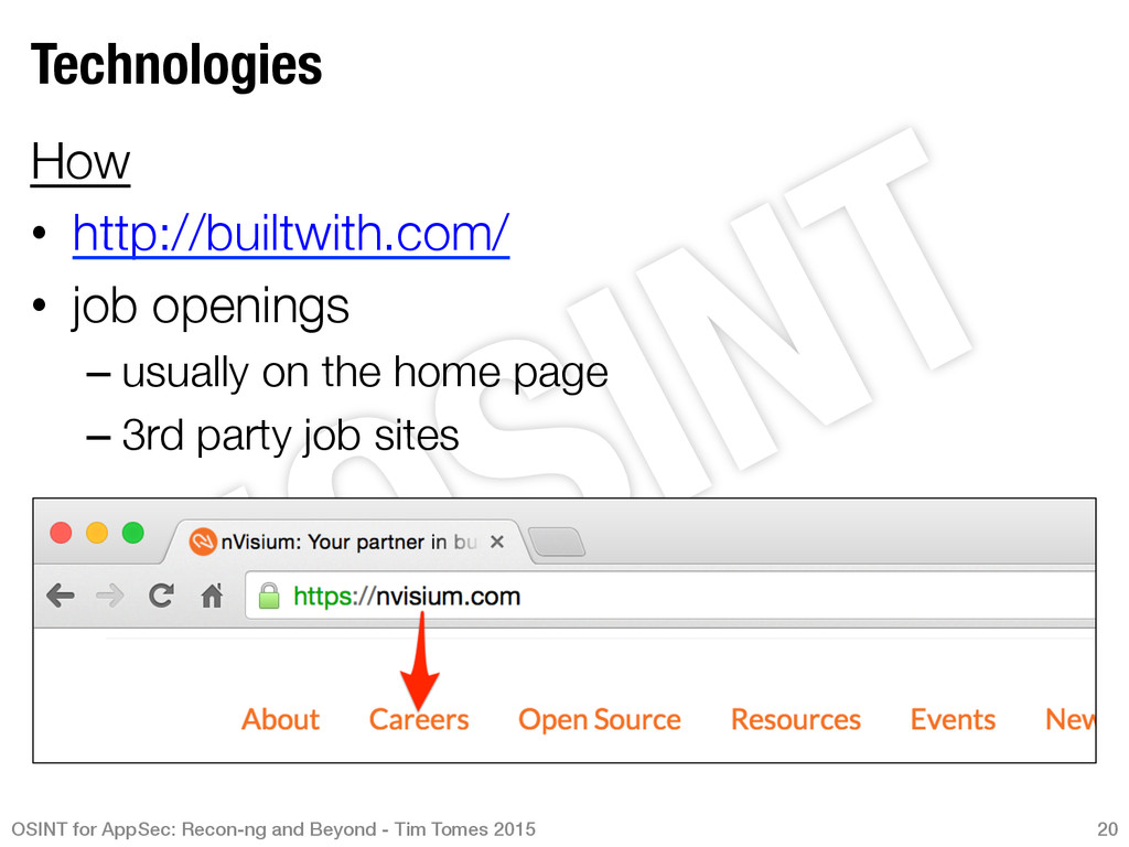 Technologies How • http://builtwith.com/ •...