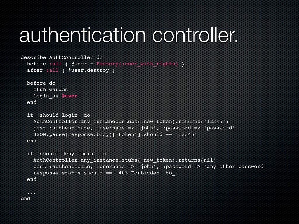 authentication controller. describe AuthControl...