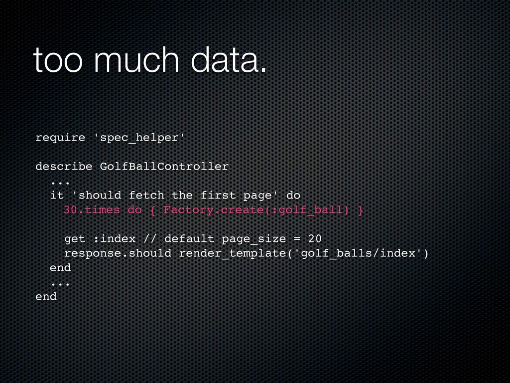 too much data. require 'spec_helper' describe G...