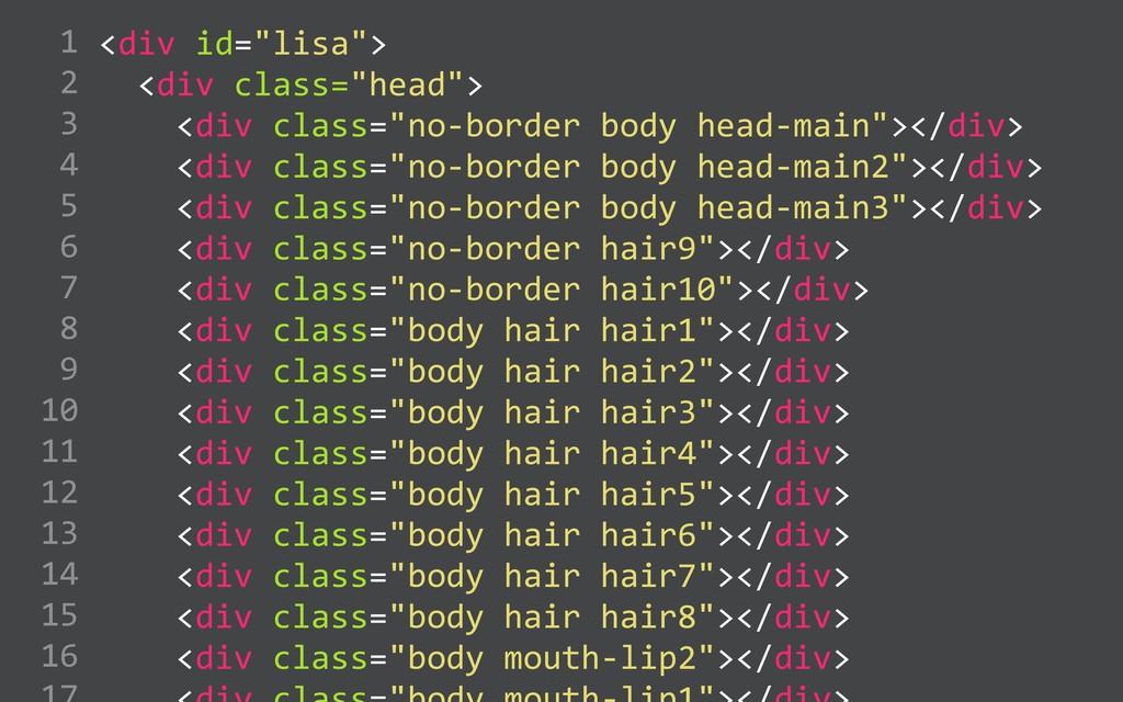 "<div id=""lisa"">    <div class=""head"">   ..."