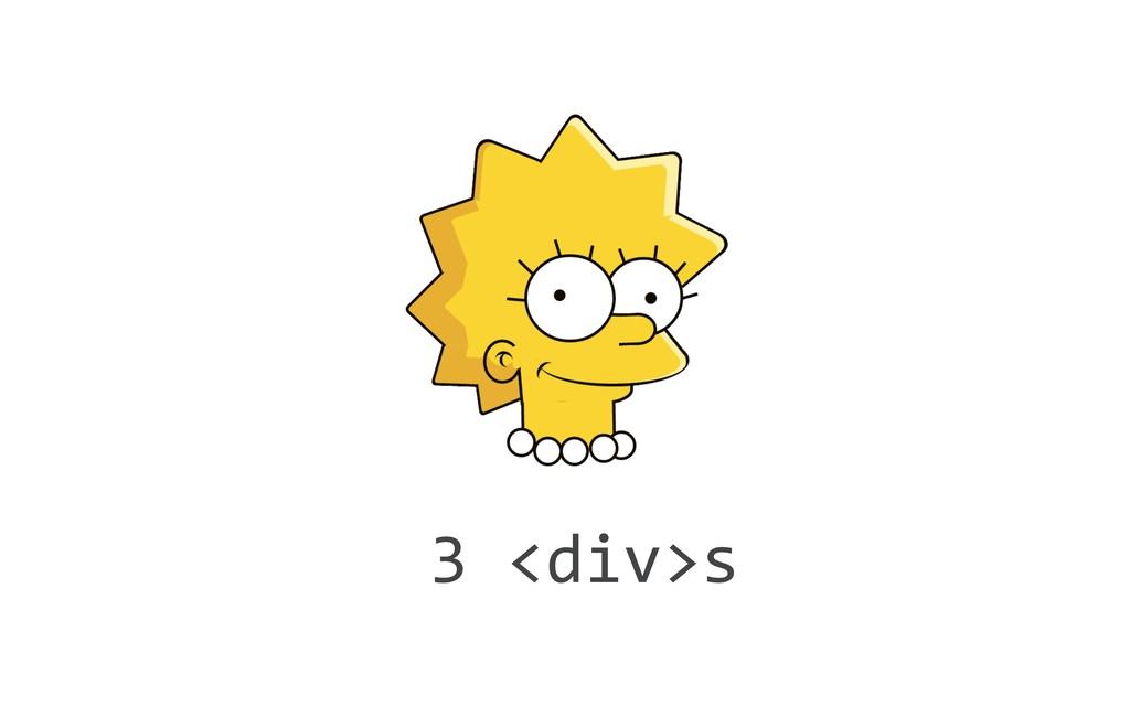 3 <div>s