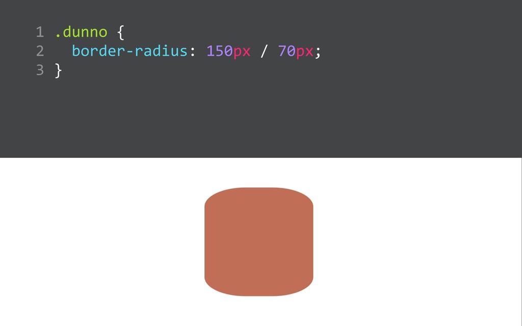 .dunno {    border-‐radius: 150px / 70p...