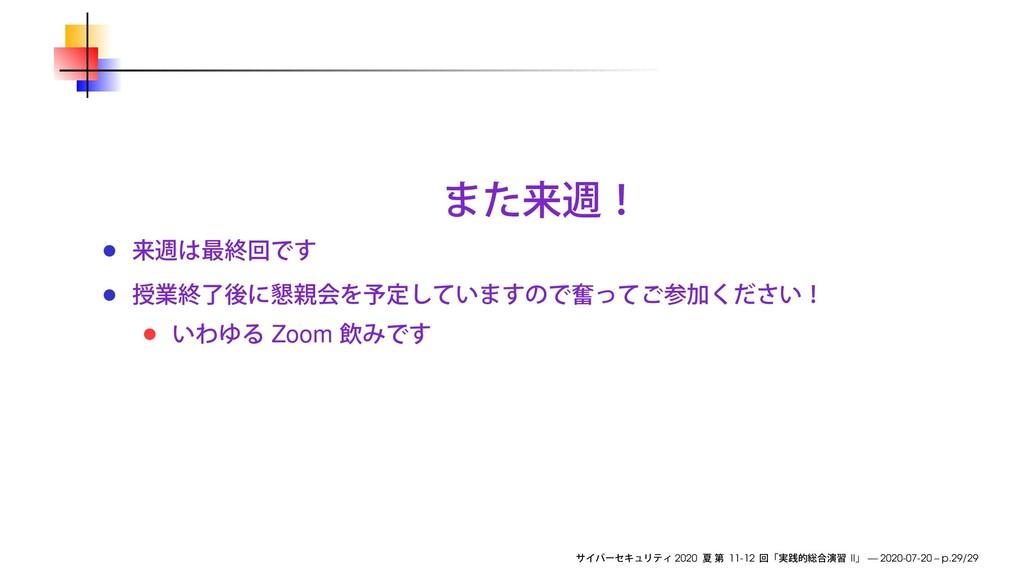 Zoom 2020 11-12 II — 2020-07-20 – p.29/29