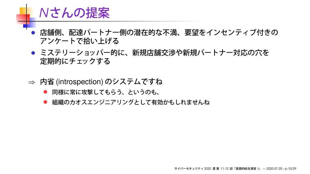 N ⇒ (introspection) 2020 11-12 II — 2020-07-20 ...