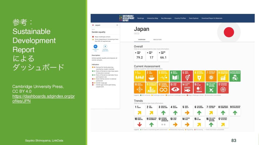 ߟɿ Sustainable Development Report ʹΑΔ μογϡϘʔυ ...